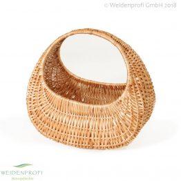Einkaufstasche Weide, Einkaufskorb, oval mit Henkel